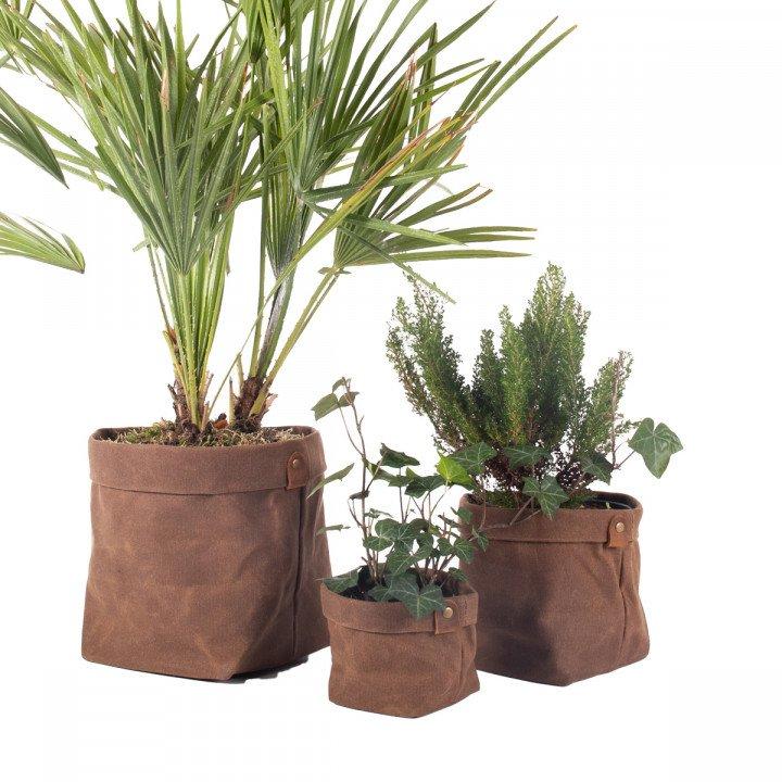 Set de Cache-pots en toile waxée PLANTER