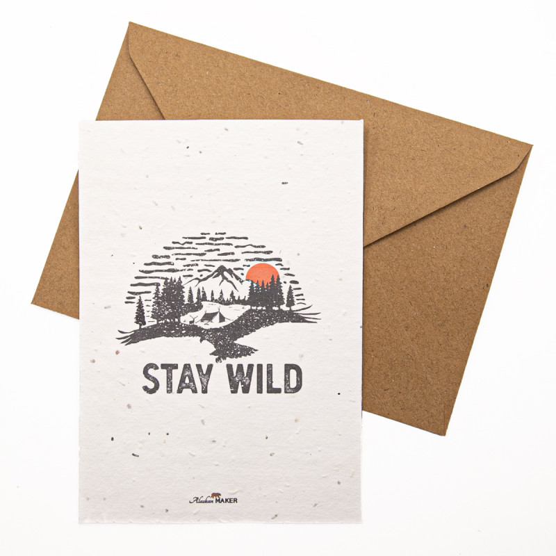Carte à planter STAY WILD