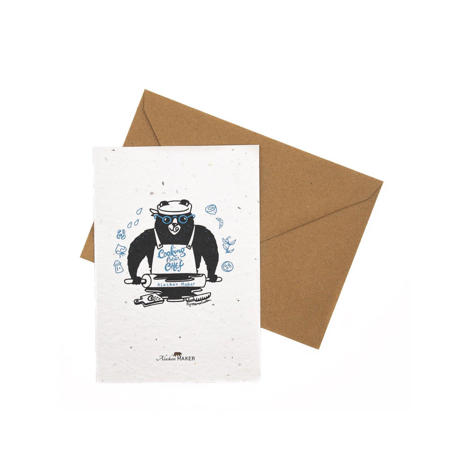 Carte à planter Cooking Bear Chef
